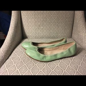 Bloch Shoes - Bloch Ballet Flats in Light Green Patent Leather